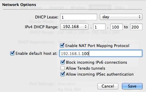 Enable Default Host