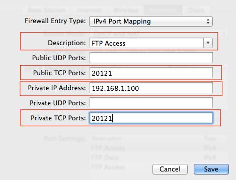 FTP Access Details